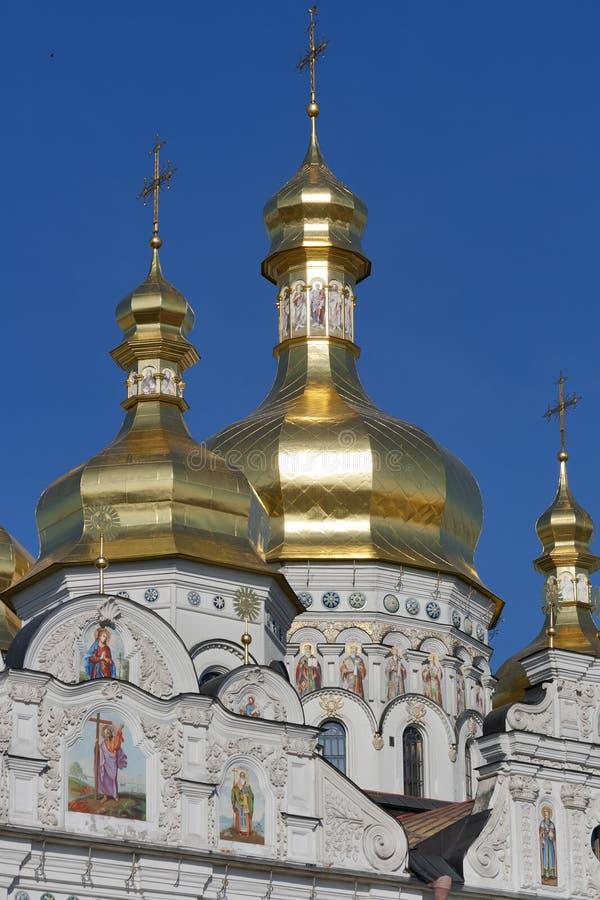 Cupola of Kiev Pechersk Lavra, Ukraine stock images