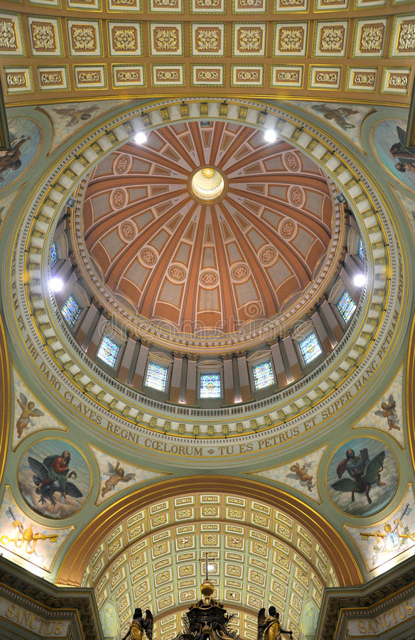 Cupola of Mary Queen of the World Cathedral royalty free stock photo