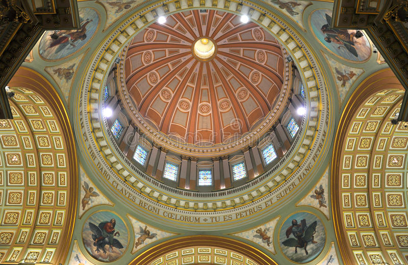 Cupola of Mary Queen of the World Cathedral royalty free stock image