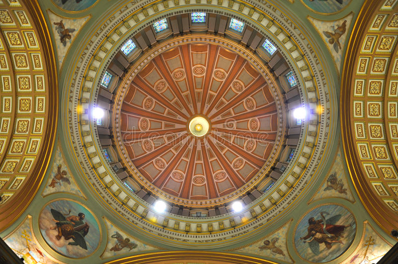 Cupola of Mary Queen of the World Cathedral royalty free stock photography