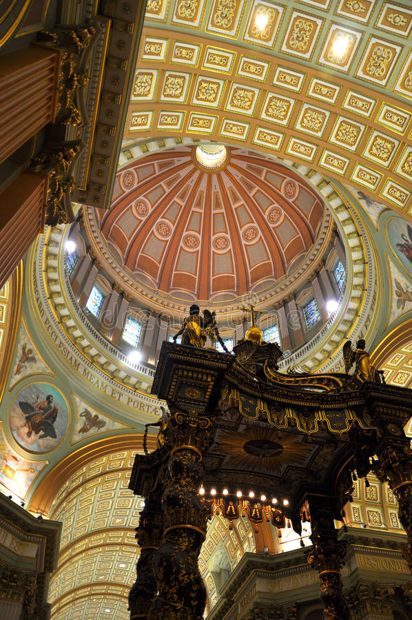 Cupola of Mary Queen of the World Cathedral royalty free stock photos