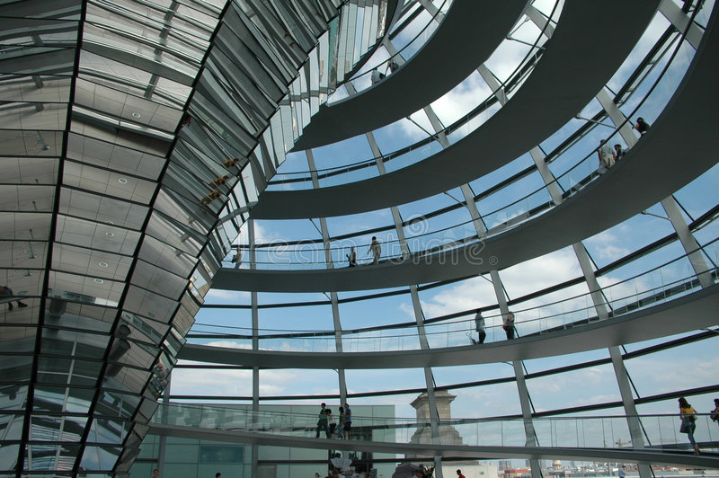Cupola Of Reichstag, Berlin Editorial Stock Photo