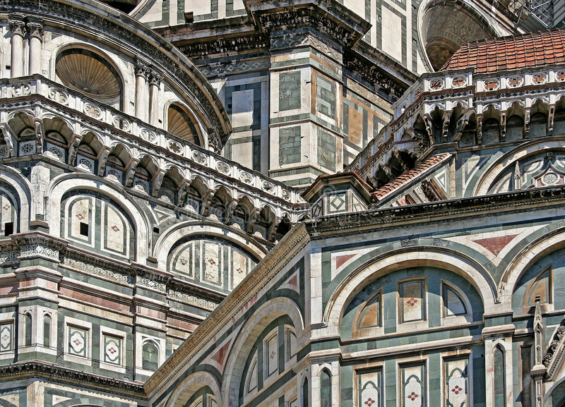Cupola Santa Maria del Fiore - particolare di Firenze fotografia stock libera da diritti