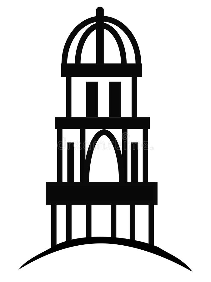 Cupola or Temple. Temple or cupola illustration silhouette logo royalty free illustration