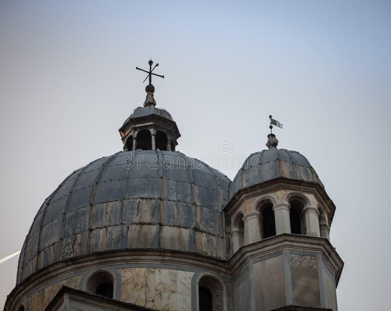 Cupola Venezia della chiesa immagini stock