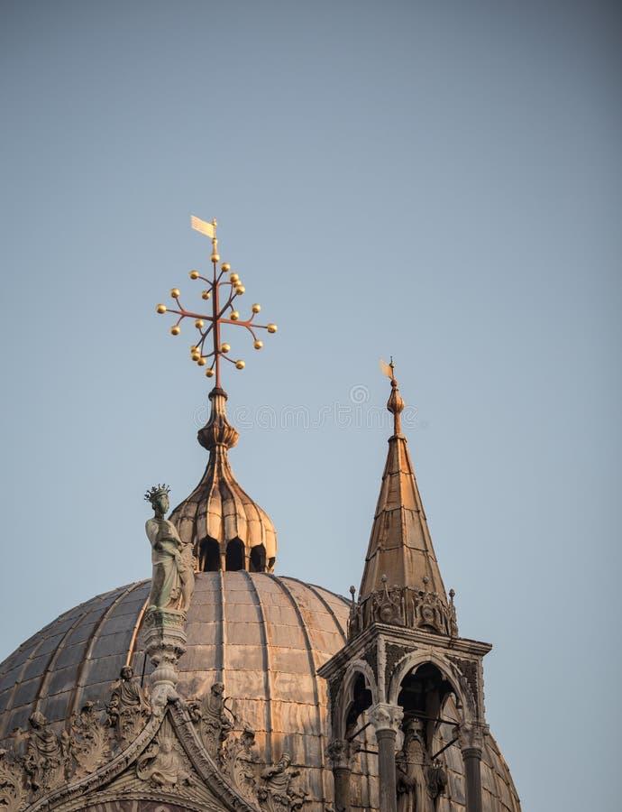 Cupola Venezia della chiesa immagini stock libere da diritti