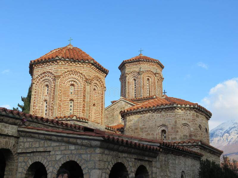 Cupole del monastero del san Naum, Macedonia fotografie stock