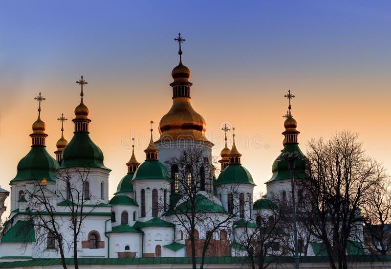 Cupole del san Sophia Cathedral fotografie stock libere da diritti