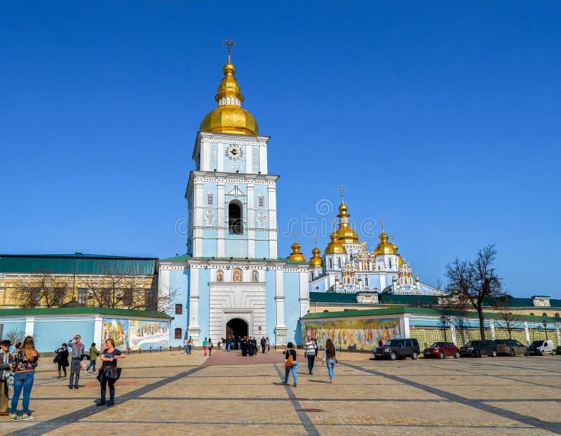 Cupole della cattedrale del ` s di Sophia kiev l'ucraina immagine stock