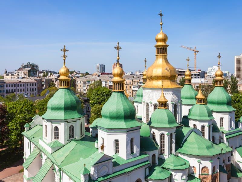 Cupole della città del san Sophia Cathedral e di Kiev immagine stock libera da diritti