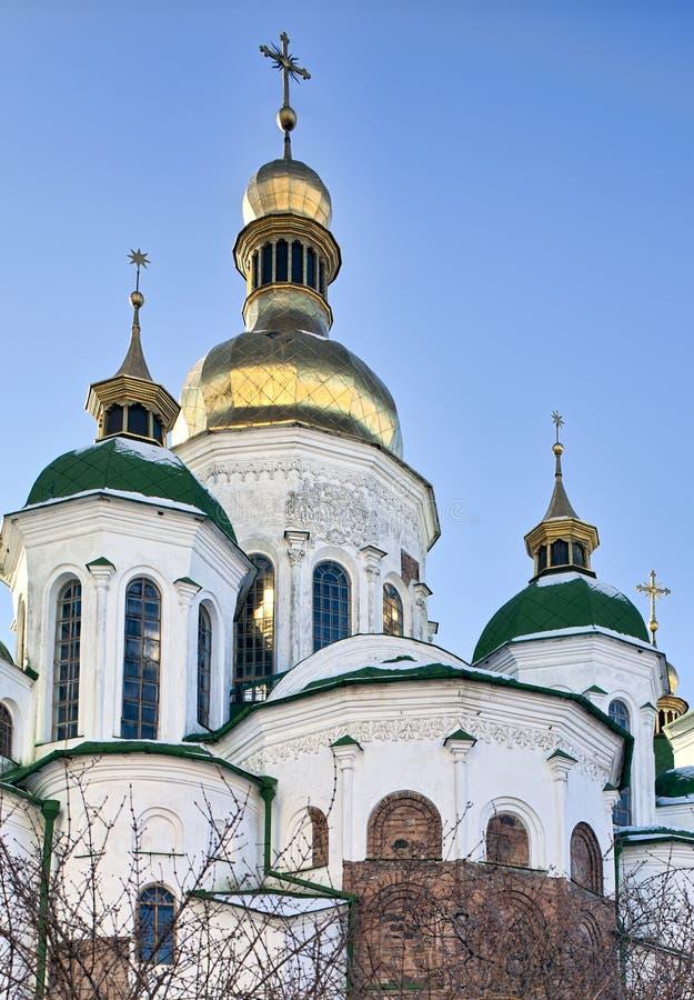Cupole dorate della cattedrale della st Sophia a Kiev immagini stock
