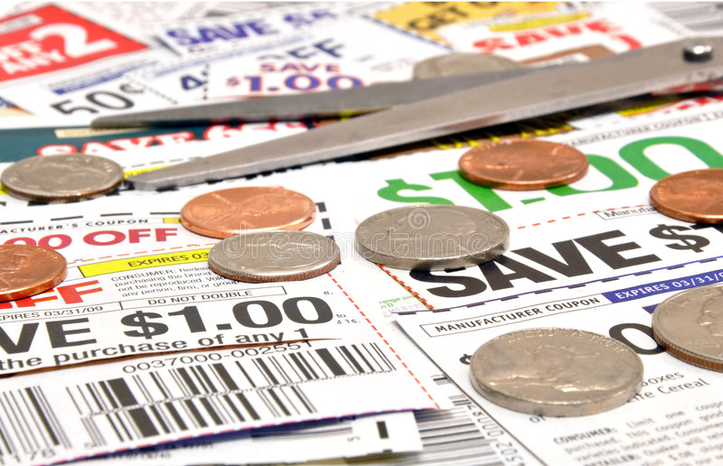 Cupones del recortes foto de archivo libre de regalías