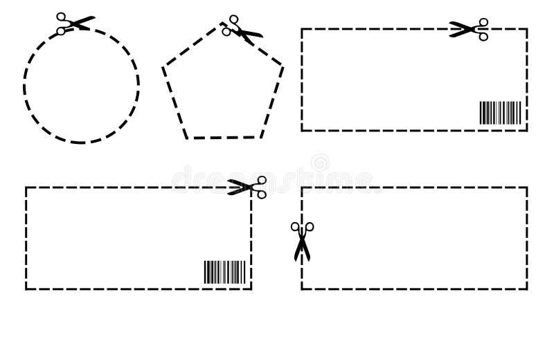Cupones en blanco ilustración del vector