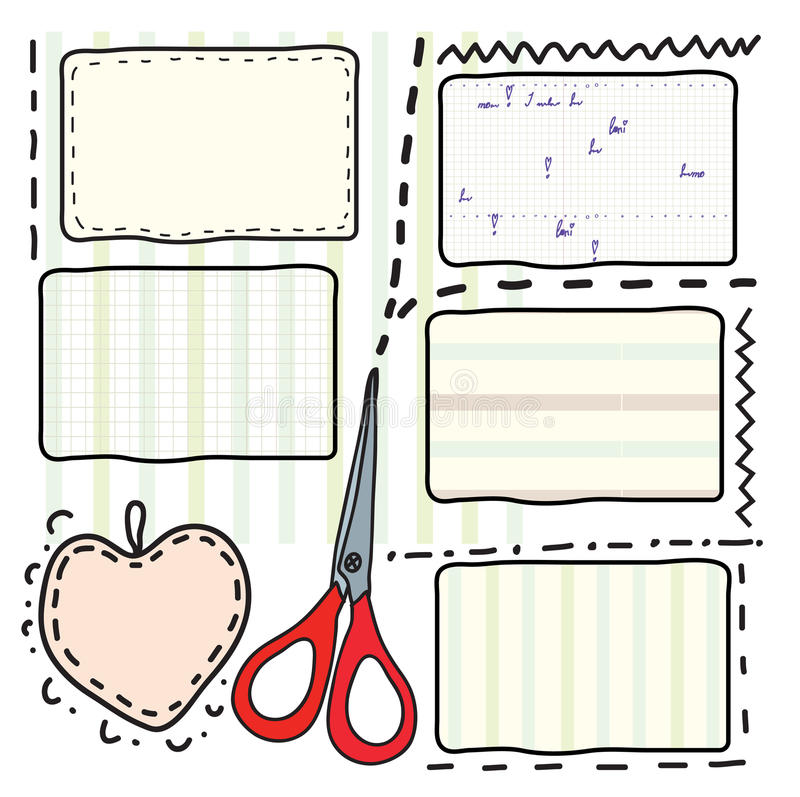 Cupones y tijeras para la venta libre illustration