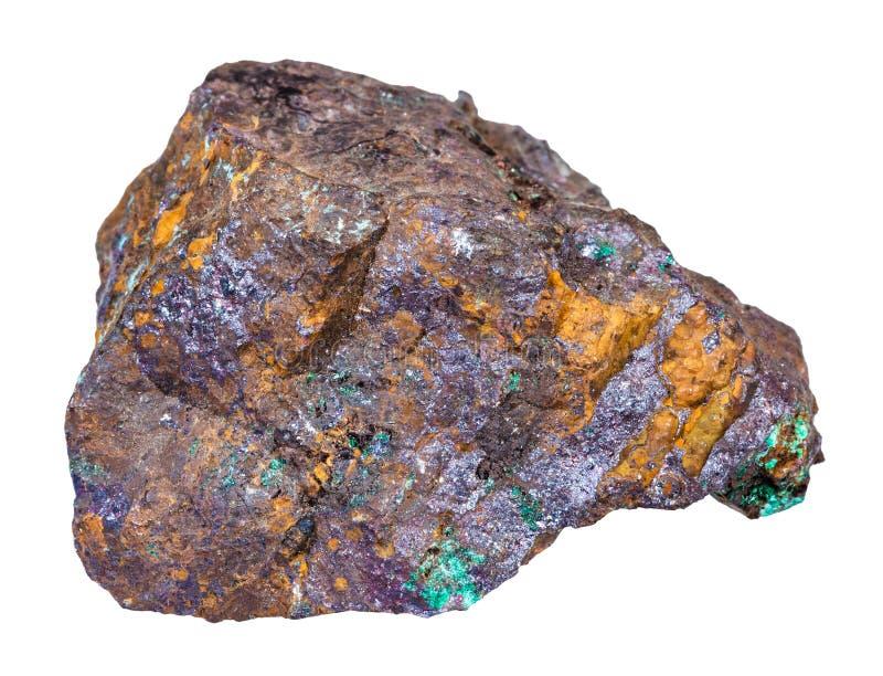 Cuprite et malachite dans la roche de Limonite d'isolement images libres de droits