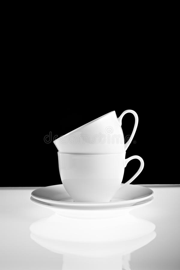 Download Cups stock photo. Image of stacked, white, porcelain - 15840194