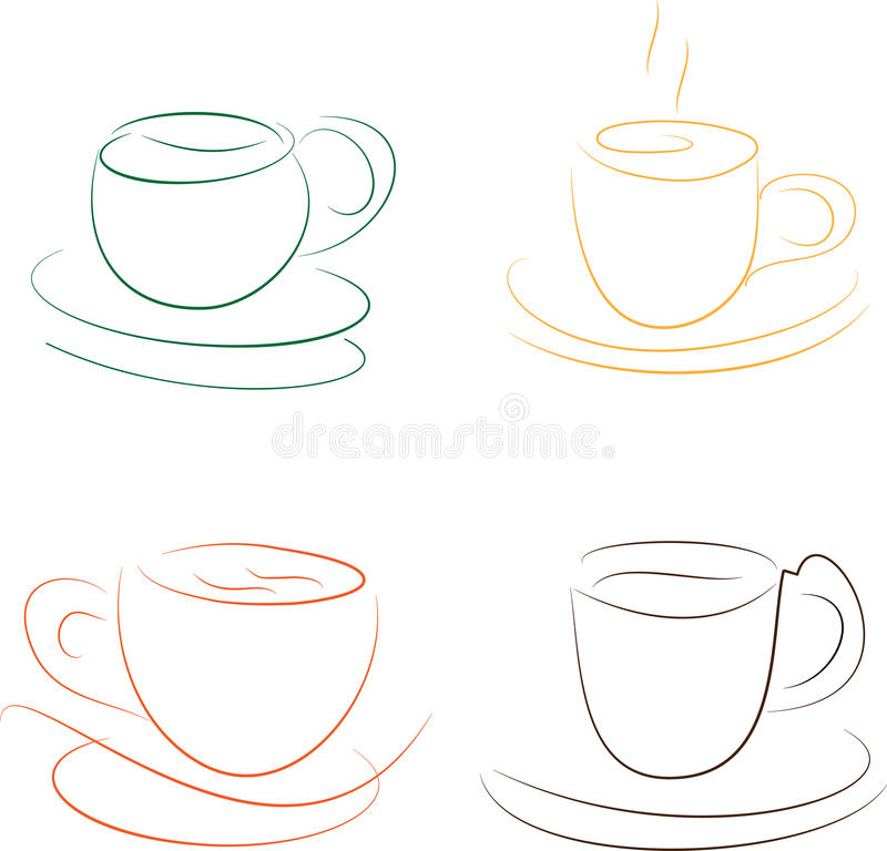 Download Cups stock vector. Image of aroma, green, element, smoke - 28860760