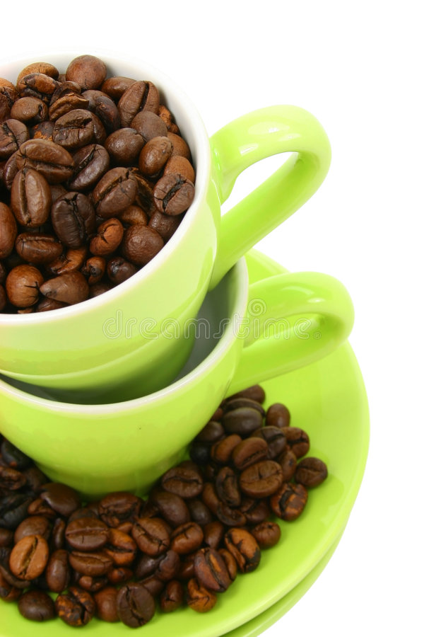 Free Cups And Coffee Beans (clipping Path Included) Royalty Free Stock Photo - 2059225