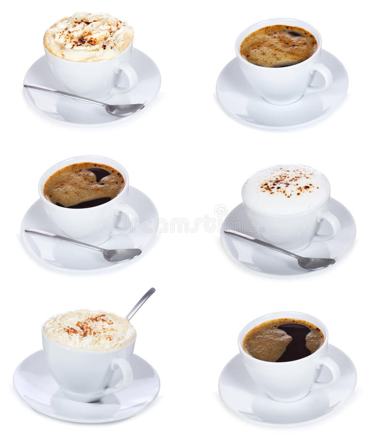 Cups of coffee stock photo
