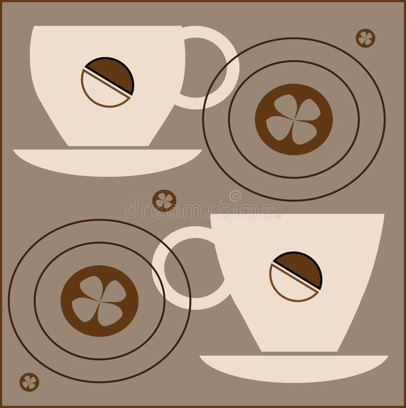 Download Cups of coffee stock vector. Illustration of dark, steam - 28976081