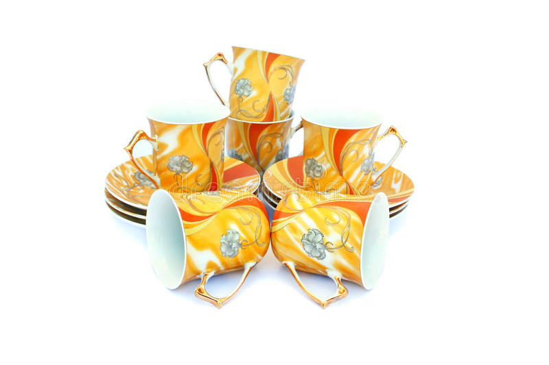 Cups with dishes royalty free stock photos