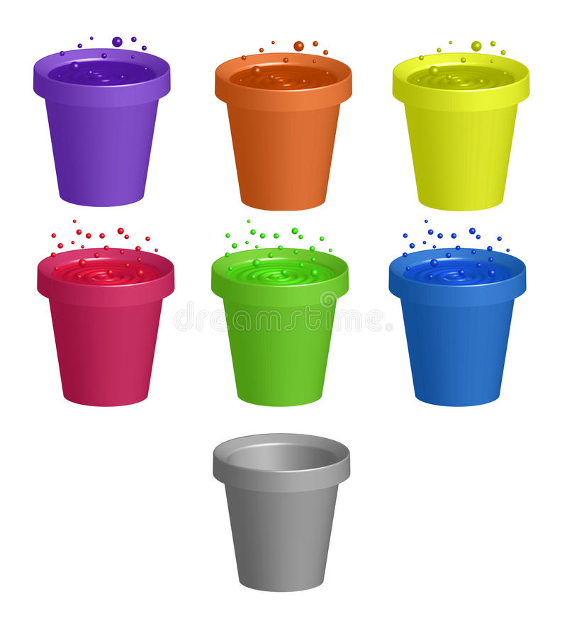 Cups With Drinks Stock Images