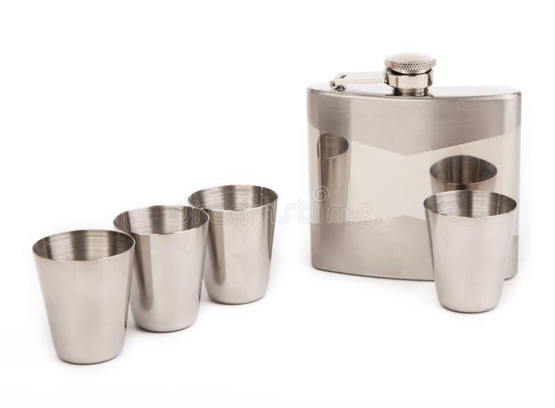 cups flaskahöften royaltyfri foto