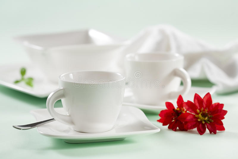 Download Cups with flowers stock photo. Image of decoration, moody - 25990658