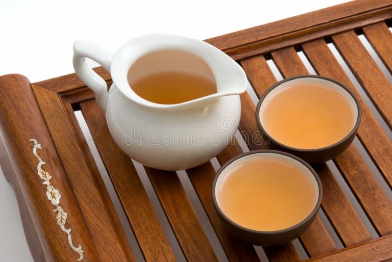 cups grön tea arkivbild