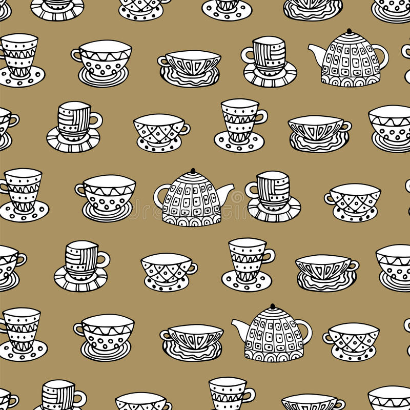 Cups 3 royalty free illustration