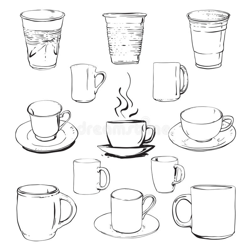 Cups Set Royalty Free Stock Photography