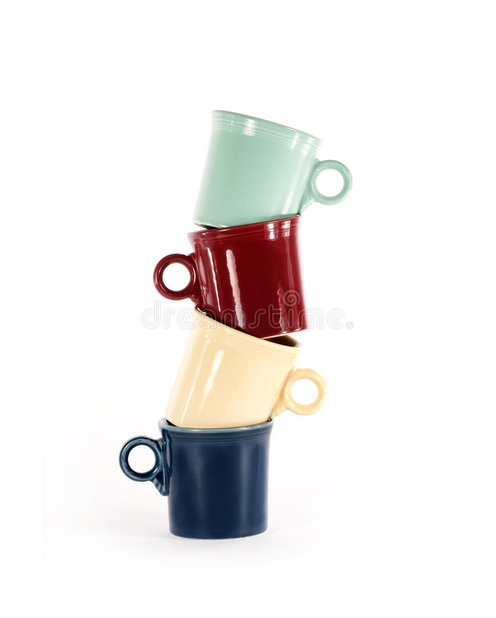 Cups Stacked stock images