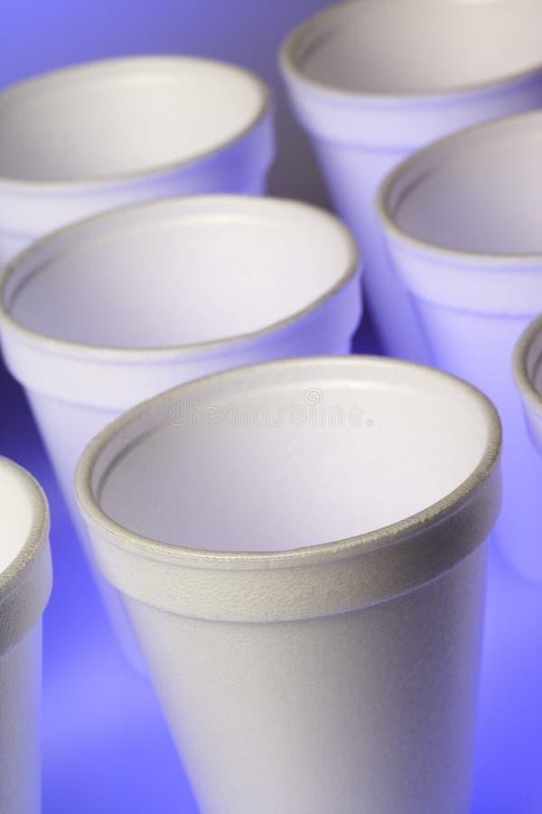 cups styrofoam royaltyfri foto