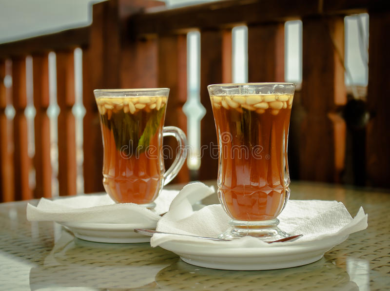 Cups of tea stock image