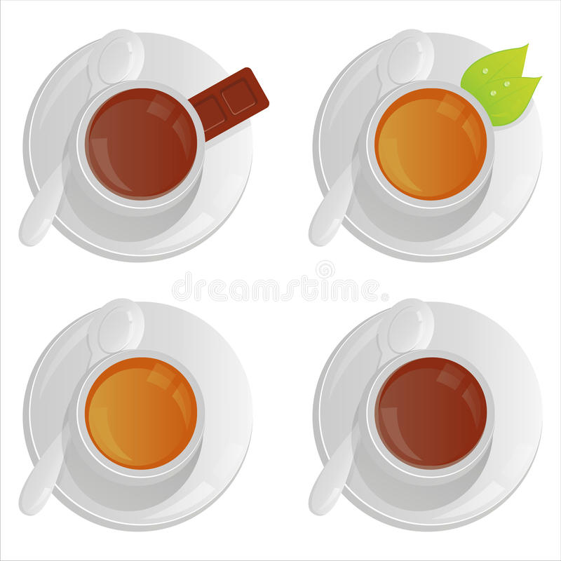 Download Cups with tea and coffee stock vector. Illustration of stylish - 17437561