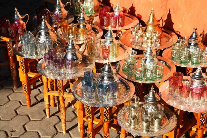 cups teapots royaltyfria foton