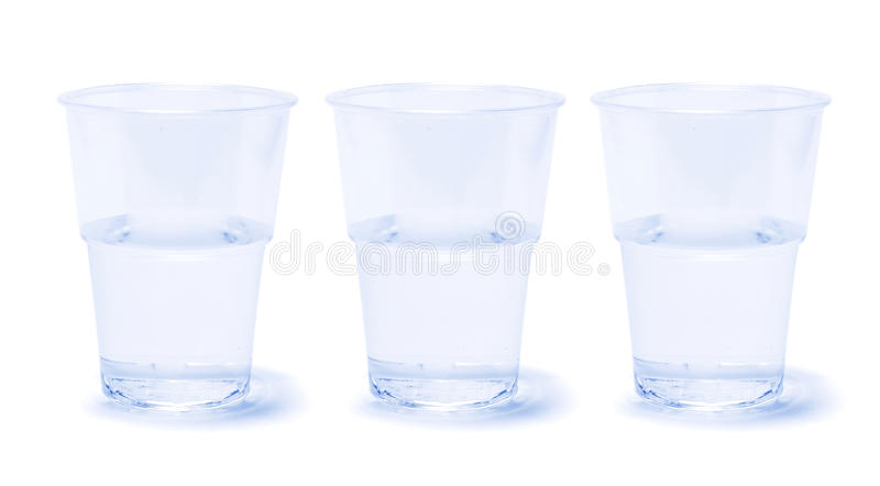 Cups of Water stock photos