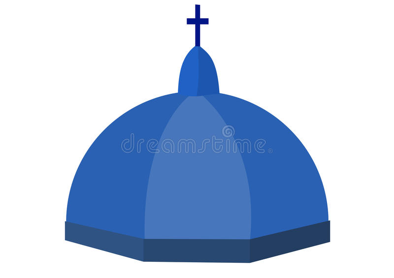 Cupula of a church. Illustration of Cupola of a church stock illustration