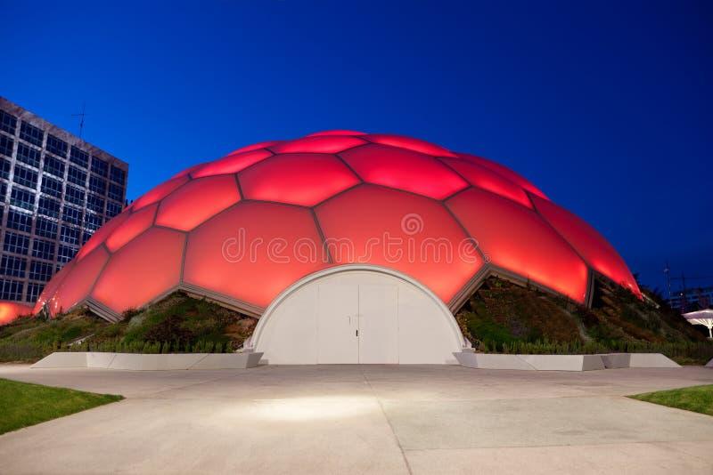 Download Cupula Del Milenio Of Valladolid At Night Editorial Photography - Image: 23266912
