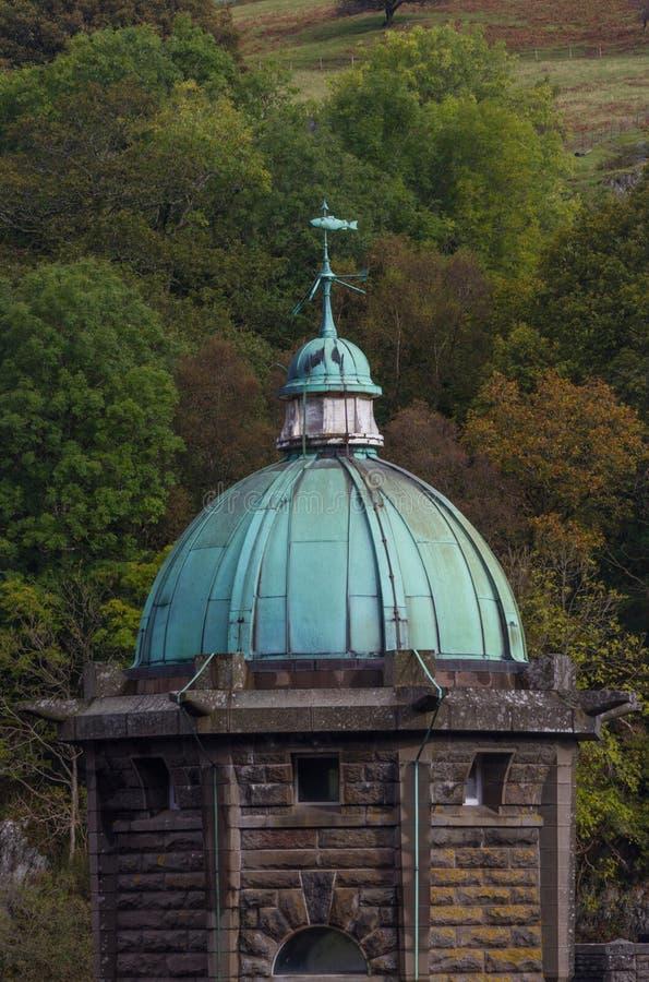 Cupula Green Dome, rame con verderame, cielo triste fotografia stock