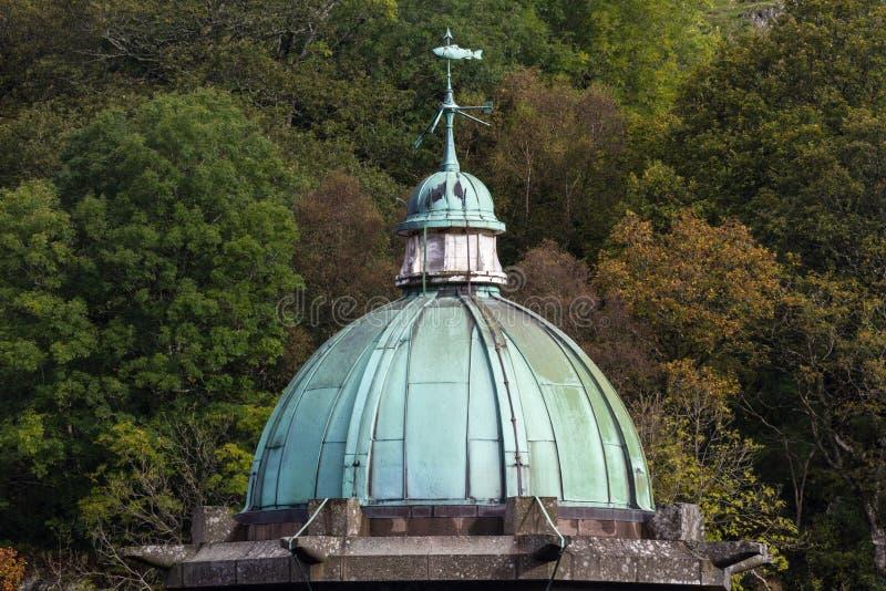 Cupula Green Dome, rame con verderame, cielo triste fotografie stock libere da diritti