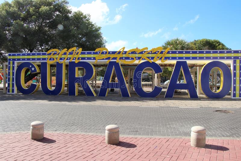 Curaçao firma adentro Willemstad, Curaçao fotografía de archivo libre de regalías