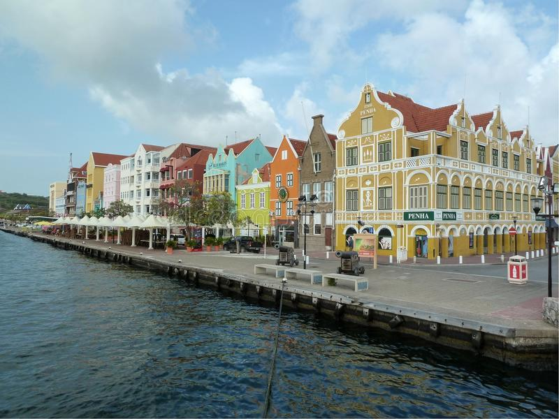 Curaçao im Stadtzentrum gelegen lizenzfreies stockfoto