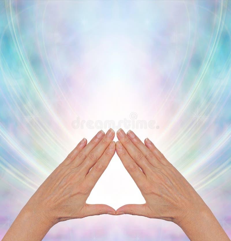 Cura da energia do poder da pirâmide ilustração royalty free