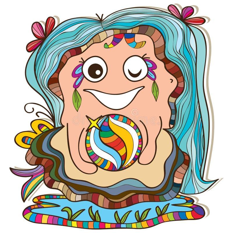 Cura della madre della perla dell'ostrica royalty illustrazione gratis