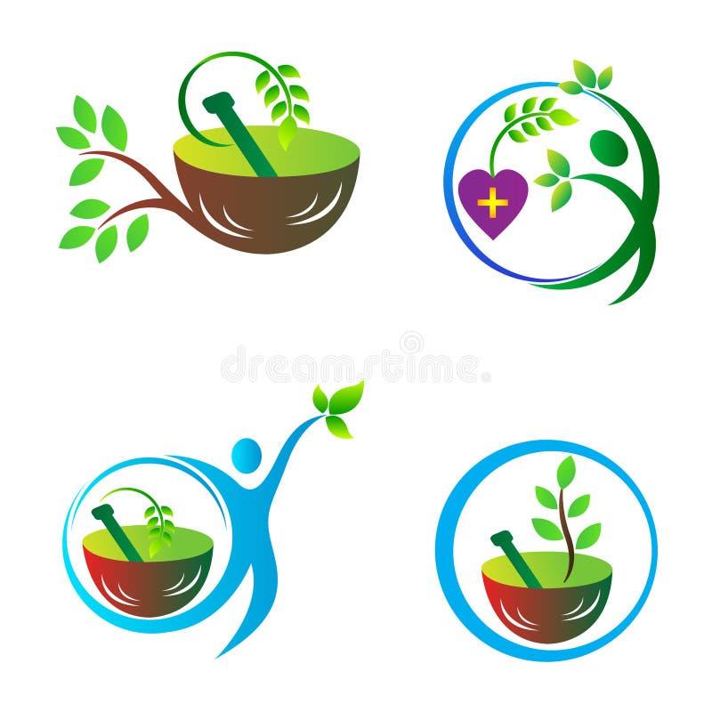Cura di erbe illustrazione vettoriale