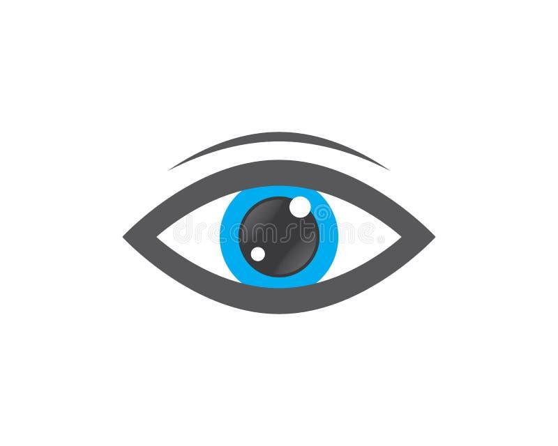 Cura Logo Template dell'occhio illustrazione di stock