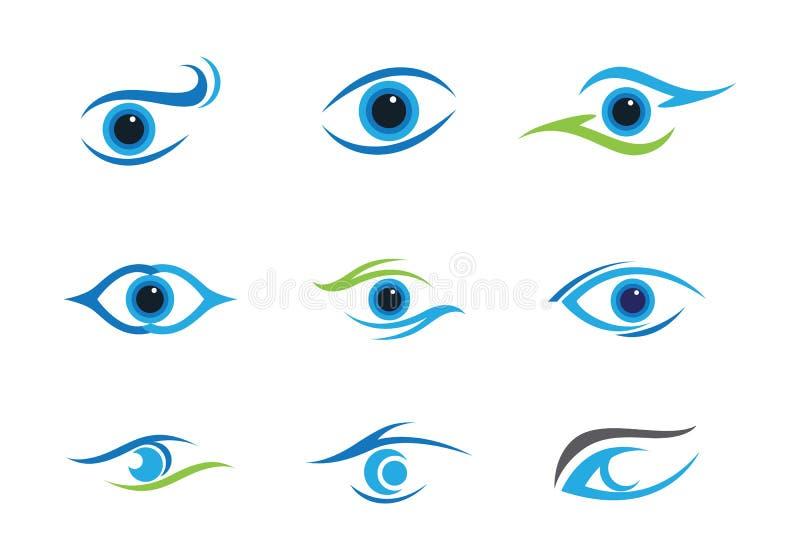 Cura Logo Template dell'occhio royalty illustrazione gratis