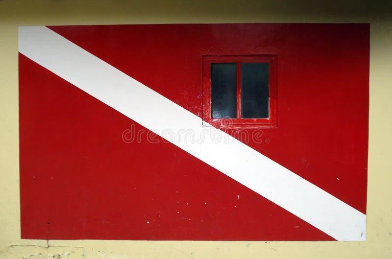 Curacao duikt de Bouw van de Vlag royalty-vrije stock afbeeldingen