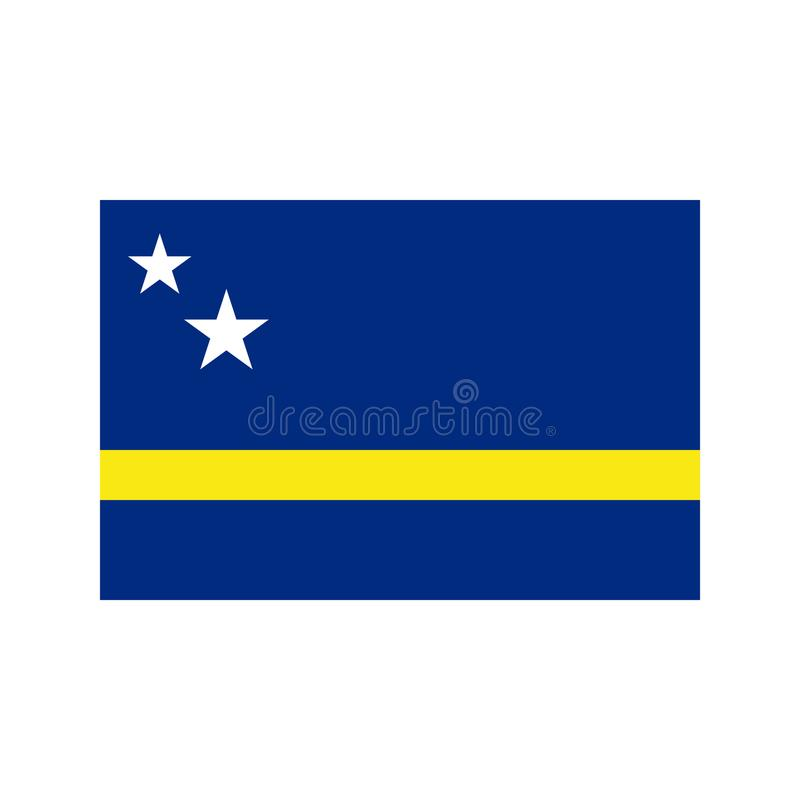 Curacao flag illustration stock illustration